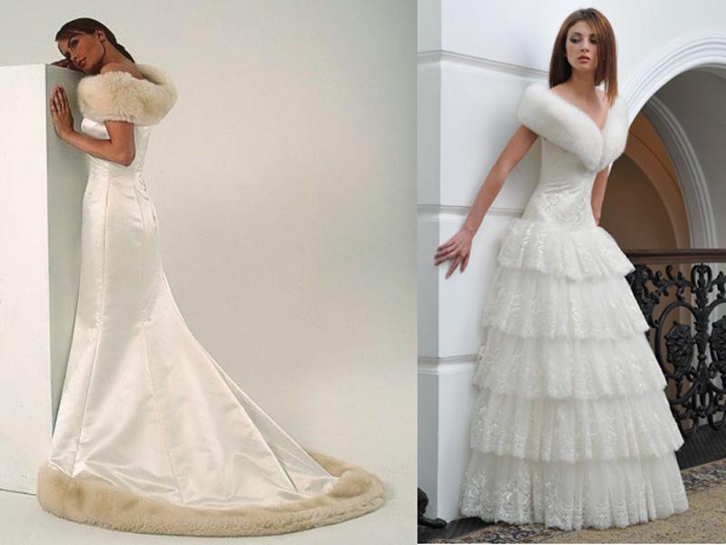 Свадебное платье с накидками