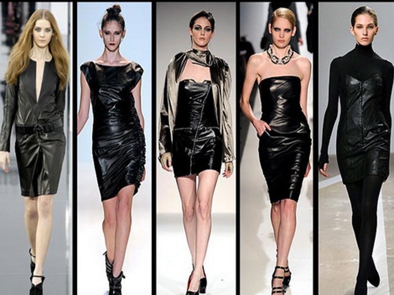 Кожаные платья от шанель