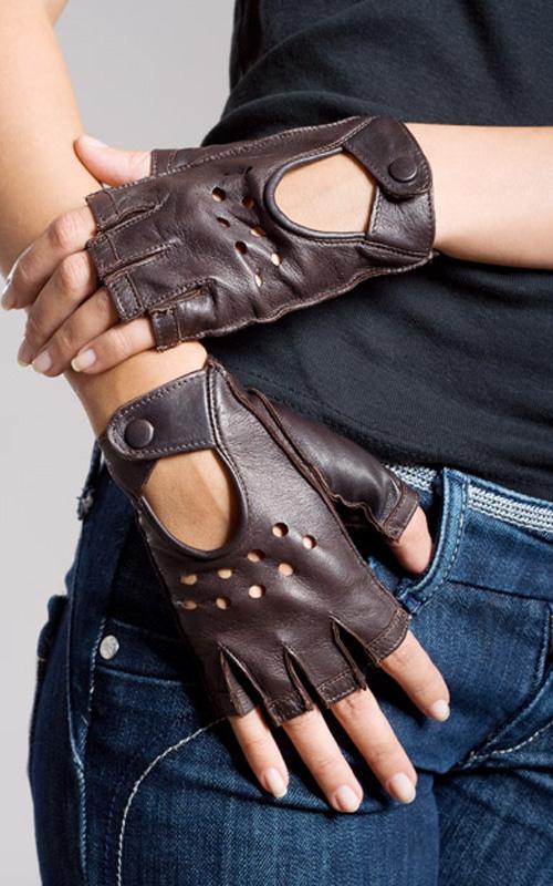 Длинные черные перчатки без пальцев оптом - Купить