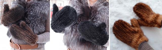вязаные варежки из меха норки стильный и практичный аксессуар для рук