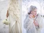 Меховые аксессуары для зимнего свадебного наряда